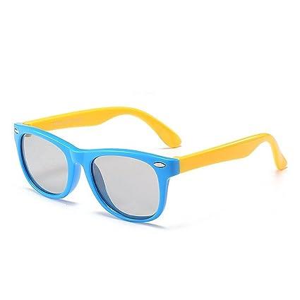 Aclth Estilo Deportivo Remache Decoración Niños Gafas de Sol Protección UV Suave y Confortable Lentes polarizadas