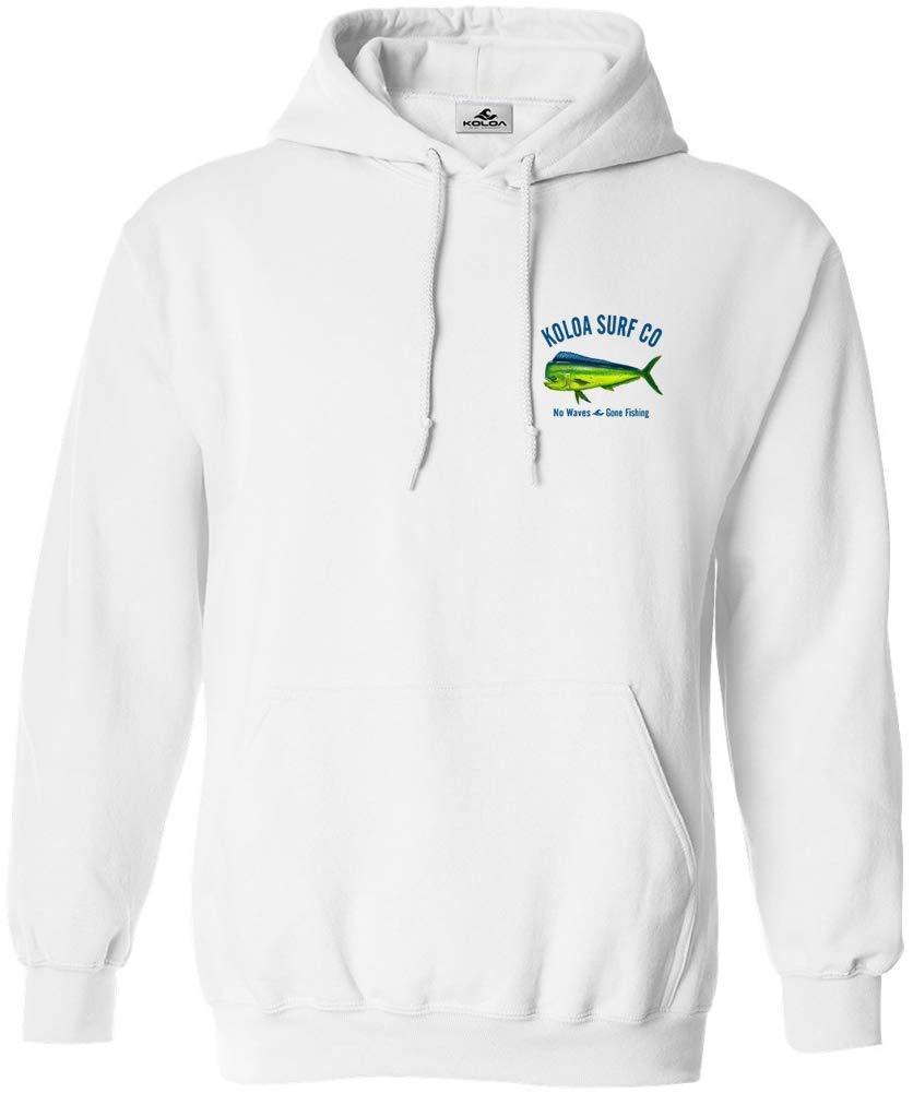 Koloa Surf Mahi Mahi No Waves Hooded Sweatshirt -White-S