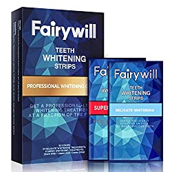 Fairywill Teeth Whitening Strips Pack of 50 Pcs White Strips, Professional and Express Whitening Strips Kits Whitestrips Remove Stains and Whiten Teeth in 30Mins