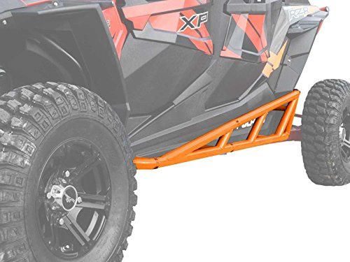 Orange Slider - SuperATV Nerf Bars/Tree Kickers/Rock Sliders for Polaris RZR XP 4 1000 (2014+) - Orange - Compatible With Our Full Protection Kit!