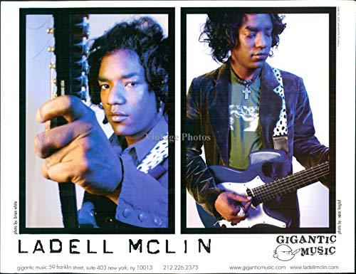 2007 Press Photo - Vintage Photos 2007 Press Photo Musician Ladell Mclin Gigantic Music American Blues Singer 8X10