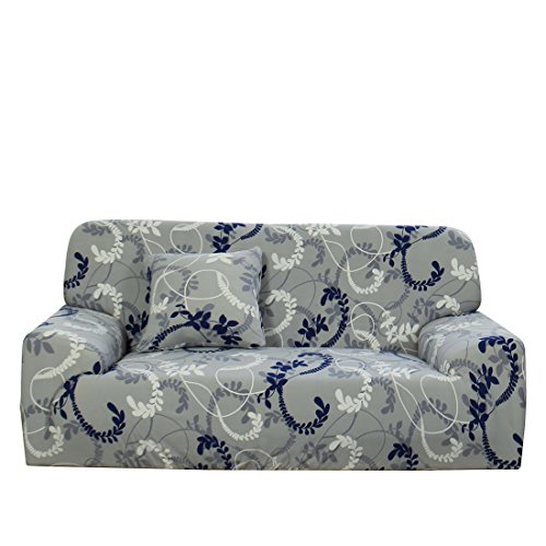 - uxcell Stretch Sofa Cover Couch Cover 2 Seater Polyester Spandex Fabric 1-Piece Sofa Slipcover for Chair Loveseat Sofa Elastic Furniture Protector with One Free Cushion Case D 57-72 Inch