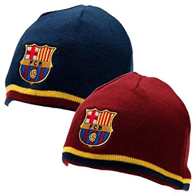 Barcelona Reversible Knitted Hat - Red/Navy
