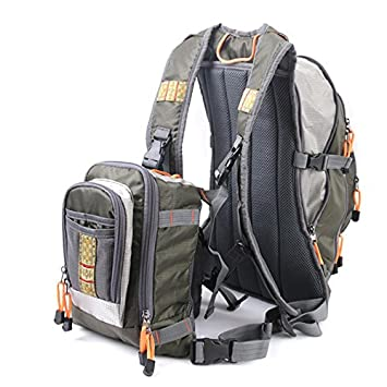 Bearhoho Maximumcatch Adjustable Fly Fishing Backpack with Tackle Chest Pack for Outdoor Sport Fishing Bag Fishing Backpack