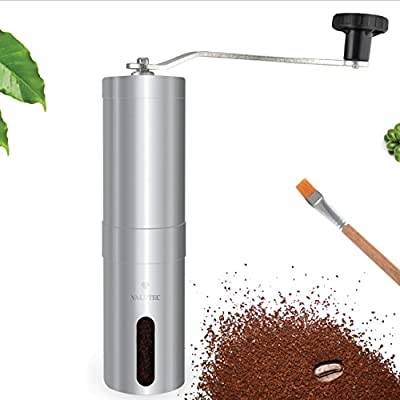 Portable Manual Coffee Grinder - Heavy Duty Stainless Steel Coffee Grinder with Conical Ceramic Burr Mill
