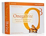 OmegaBrite, 60 soft gelcaps (500mg)   Highest Purity Omega-3 Fish Oil Vitamins   Advanced Omega-3 Formula for Mood, Heart, and Joint Health