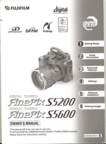 fujifilm finepix s5200 s5600 original instruction manual amazon com rh amazon com finepix s5200 user manual Manuals in PDF