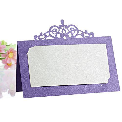 Kangnice 50Pcs Party Wedding Place Name Cards Personalised Tableware Seating Decoration ()