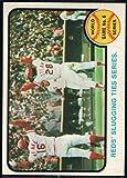 Baseball MLB 1973 Topps #208 World Series Game 6 Reds' Slugging Ties Series. EX/NM Reds