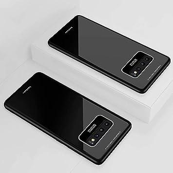 DYGG Compatible con Funda para Samsung Galaxy Note 9, Estuche Carcasa Forro Ultra Delgada TPU Parachoques, Trasera de Vidrio Templado - Negro