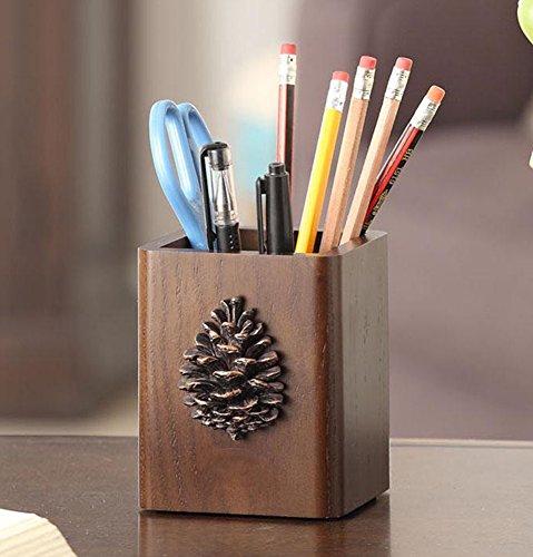 YOURNELO Simple Pinecone Pen Pencil Holder Desk Organizer Accessories
