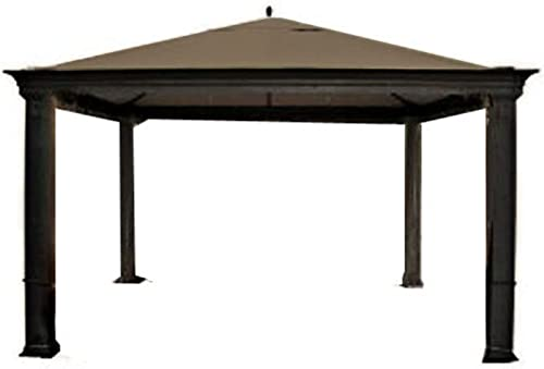 Garden Winds Replacement Canopy Top Cover for Tiverton Series 3 Gazebo – Riplock 350 – Nutmeg