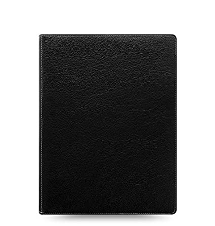 Filofax Heritage Buffalo Leather Organizer Agenda Calendar with DiLoro Jot Pad Refills (A5 Compact, Black 2019, 026022)