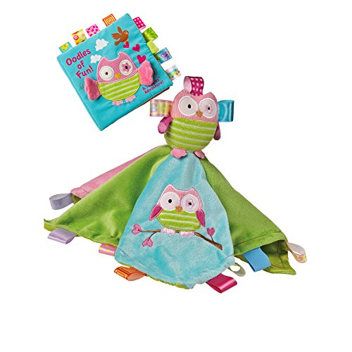 Mary Meyer Taggies Character Blanket and Soft Book Set for Newborn, Infant or Toddler Boys and Girls (Owl) by Mary Meyer