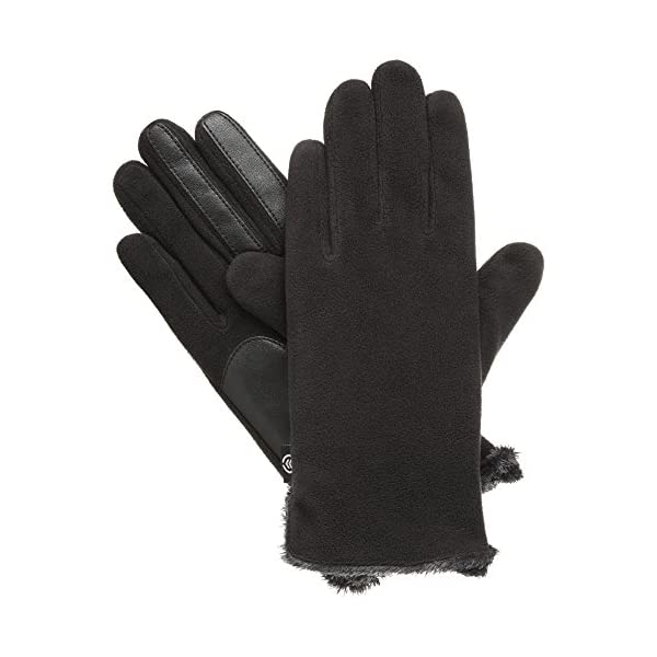 Isotoner Women's Stretch Fleece Gloves with Microluxe and Smart Touch Technology