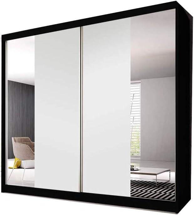 MOEBLO Ben 38 - Armario con Puertas correderas y Espejo (2 Puertas, 183 x 218 x 61 cm): Amazon.es: Hogar
