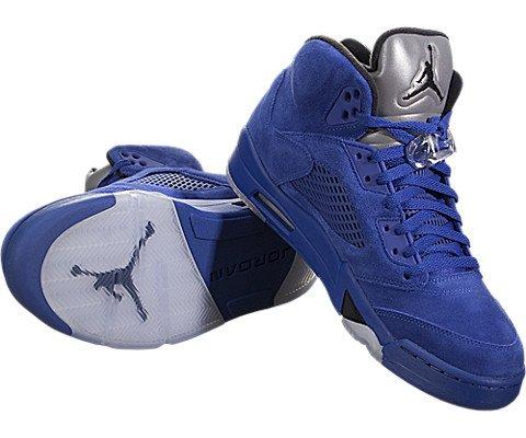 innovative design 27d4e 47081 Jordan Men Air 5 Retro blue game royal black Size 9.0 US