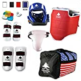 Pine Tree Complete Vinyl Martial Arts Sparring Gear Set with Bag, Shin, & Groin