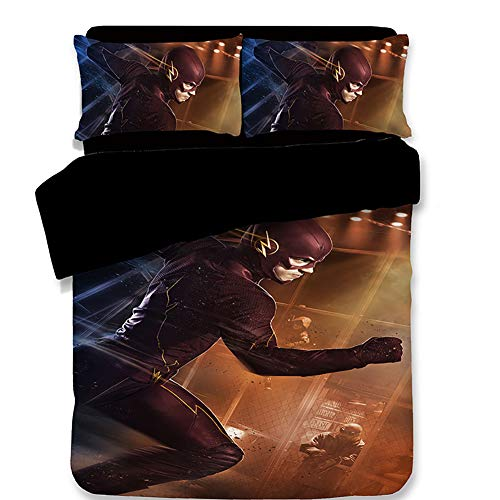 ZFLQG Duvet Cover Set 3 Pieces |Marvel Comics Crop Two Sided Reversible Design | Includes Matching Pillow Case,Fortresscharacter5,Twin ()