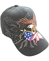 Aesthetinc Patriotic American Eagle and American Flag Baseball Cap USA 3D Embroidery