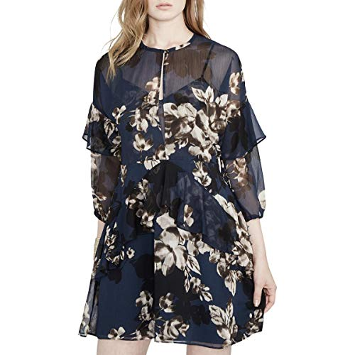 RACHEL Rachel Roy Womens Floral Print Ruffled Party for sale  Delivered anywhere in USA