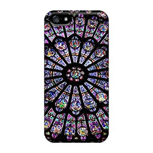 For Iphone 5/5s Fashion Design Notre Dame Stained Blue Glass Case-usTmzHX3552Wpxdd