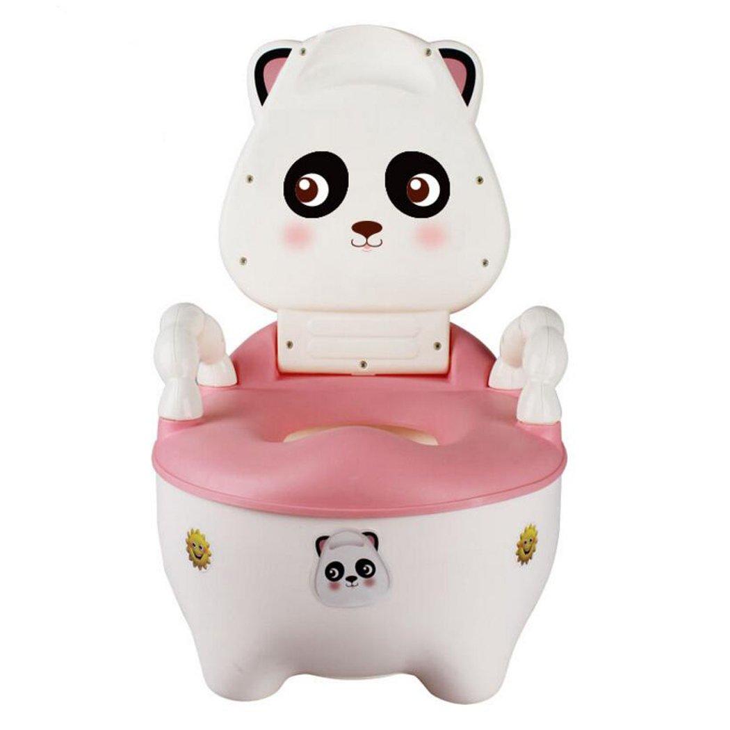 JUNBOSI Baby Potty Multifunction Cute Modeling Toilet Training Potty Baby Kid Children Potties Urinal Bathroom Pee Trainer Children's Potty Multi Stage Potty (Color : Pink)