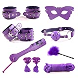 YUJOY New 8 pcs Adult Sexy Costume Women Clothes Restraint Kit Leather Luxury Handcuffs Toy