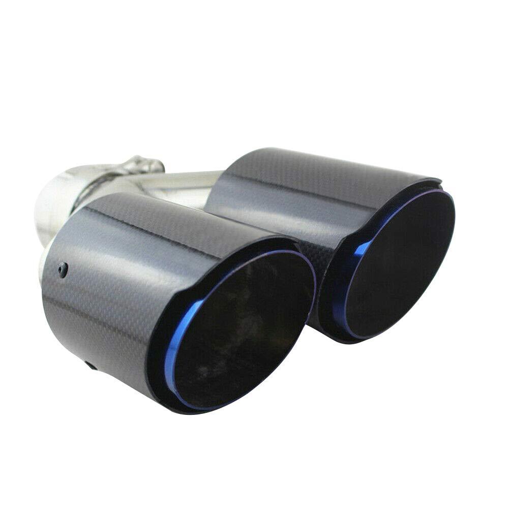 Super-ZS Tubo De Escape del Coche Silenciador De Fibra De Carbono Doble Salida Tipo Y 70 Mm Calibre Importado Coche Modificado Universal Garganta De Cola