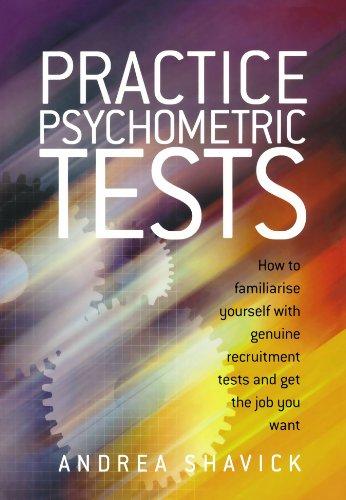 Practice psychometric tests andrea shavick