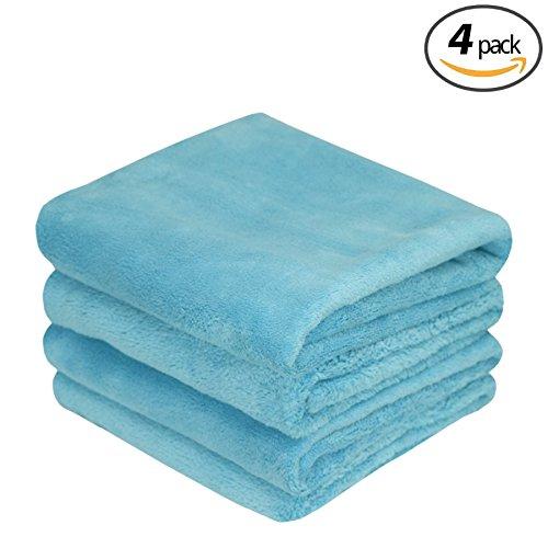 ( 6パック) The Rag会社16インチ× 16で。Minx Professional Edgeless 70 / 30ブレンドSuper Plushマイクロファイバー研磨、Buffing、Waterless、Rinseless , Car Wash Detailing Towels 16x24 ブルー 51624-MINX B076B6KDRH 16x24|ブルー ブルー 16x24