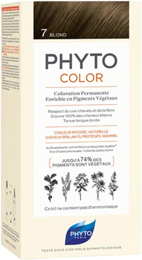 Phyto Tinte para el Cabello Color 7 Rubio, 100 g: Amazon.es ...
