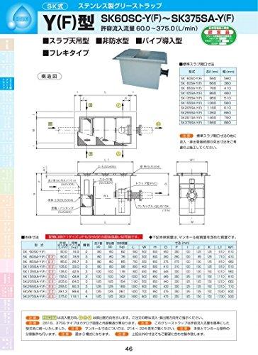 Y(F)型 SK85SA-Y(F) SS400亜鉛メッキ SS400亜鉛メッキ  B071LMY78B