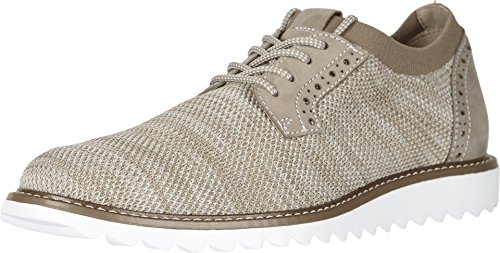 Dockers Men's Einstein Knit/Leather Smart Series Dress Casual Oxford with NeverWet Oatmeal Marbeled Knit/Nubuck 10.5 D US