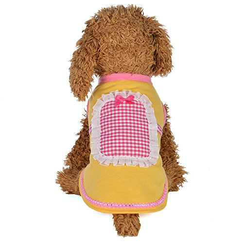 Hpapadks Pet Dog Maid Outfit, Spring and Summer Maid Outfit Dog Costumes Pet Clothes Small Dog Clothes for Sale Female Dog Clothes ()