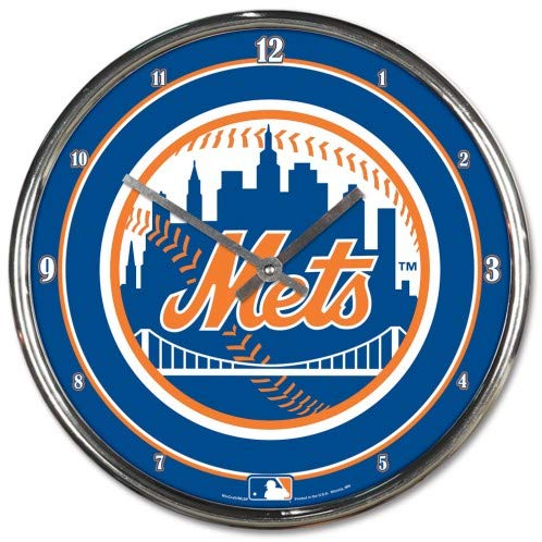 MLB New York Mets Chrome Clock, 12'' x 12'' by WinCraft