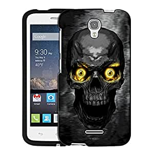 Alcatel OneTouch Pop Astro Case, Snap On Cover by Trek Skull Colored Eyes Yellow Case