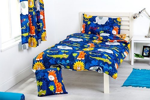 Children's Jungle Fever Double Bed Size Duvet Cover Set with 2 Pillowcases 200cm x 200cm Shopisfy