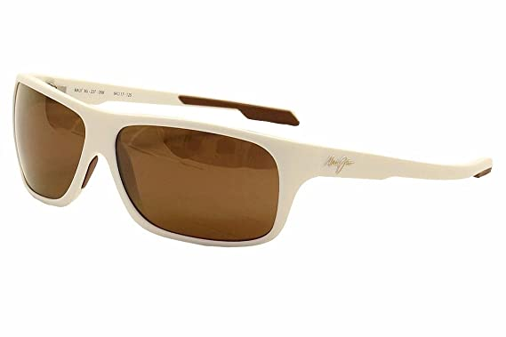 7a7f93d61e4 Maui Jim H237-05M Matte White Island Time Wrap Sunglasses Polarised  Sailing, Fi: Amazon.co.uk: Clothing