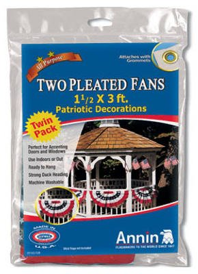 Annin #483160 2PK Patriotic Pleat Fan
