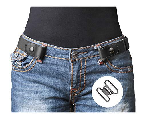 No Buckle Stretch Belt For Women/Men Elastic Waist Belt 1-1/4