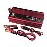 IpoweBingo Car Power Inverter 800W / 2000W (Peak) DC 12V to AC 110V Vehicle 2 USB Ports Adapter Converter Car Inverter Power Supply Switch On-board Charger