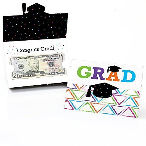 Hats Off Grad - Graduation Party Money and Gift Card Holder - Set of 8 (Card Graduation Gift Holders)