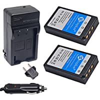 Mcoplus 2-Pack of BLS-1/BLS-5 Batteries and 1 Battery Charger for Olympus E-P3, E-PM1, E-PL1, E-PL2, E-PL3, E-PL5, E-PL7, OM-D, E-M10, Stylus 1 Digital Camera