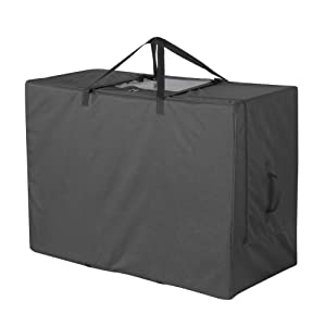 Cuddly Nest Folding Mattress Storage Bag Heavy Duty Carry Case for Tri-Fold Guest Bed Mattress (Fits Up to 6 inches Twin Mattress, Black)