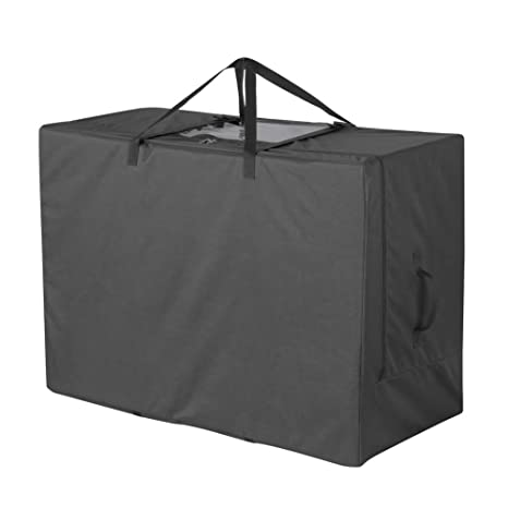 Cuddly Nest Folding Mattress Storage Bag Heavy Duty Carry Case For Tri Fold Guest Bed Mattress Black Fits Up To 6 Inches Twin Mattress