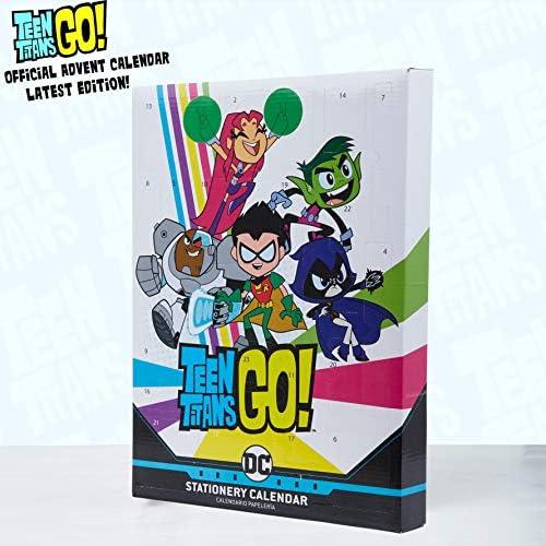 Teen Titans Go! Adventskalender 2020, Schreibwaren Adventskalender Kinder, 24 Weihnachtskalender Mädchen und Jungen, Kleine Geschenke Adventskalender Kinder