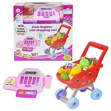 Caja Registradora + Carro de Compra 30 Accesorios: Amazon.es: Juguetes y juegos