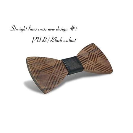 Corbatas de lazo de madera Pajarita de madera Pajarita Pajarita de ...