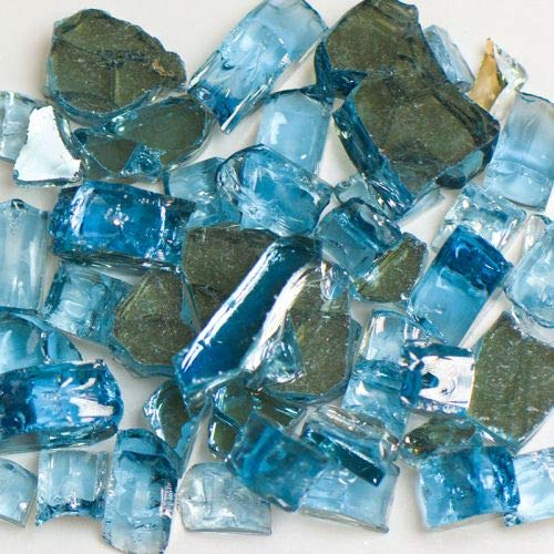American Specialty Tempered Reflective Blue Size 2 Terrazzo Glass - 10 Lbs. Bag by American Specialty